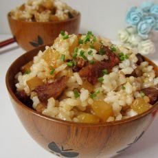 土豆腊肠焖饭的做法