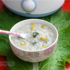 木耳菜玉米粥