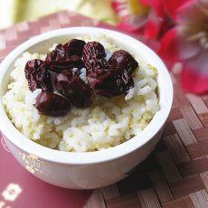 大枣二米饭的做法