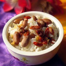 枸杞花生米饭
