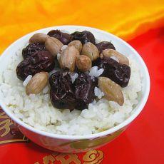 大枣花生米饭的做法