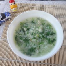 菠菜虾皮粥的做法