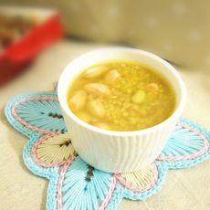 双米青豆粥的做法