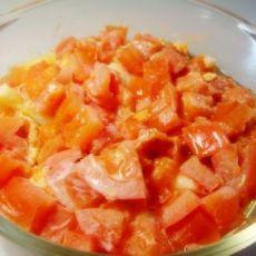 微博炉番茄菜花蒸蛋