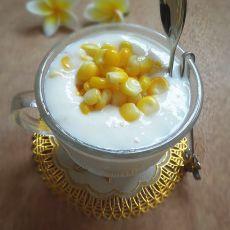 藕粉牛奶玉米羹