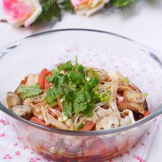 鲜美蘑菇叮豆腐