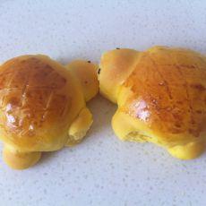 小乌龟南瓜面包