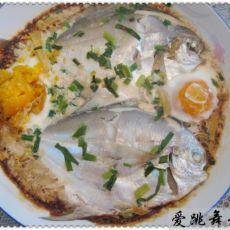 咸蛋蒸鲳鱼