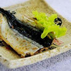 微波烤秋刀鱼