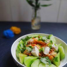 青瓜豆腐拌皮蛋
