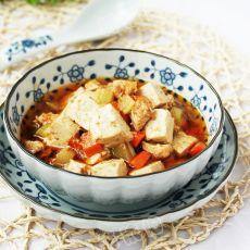 沙茶豆腐鸡丁
