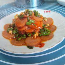 蒜米肉花肠的做法