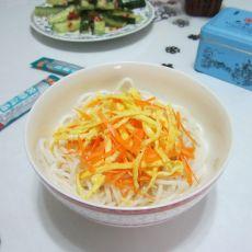 高汤蛋丝米线的做法