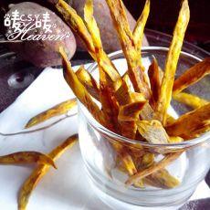 自制黑椒红薯条