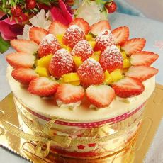 草莓榴��棋格蛋糕