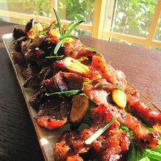 蒜香黑椒烤肉