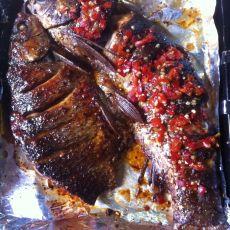 双味烤鱼的做法