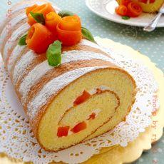 木瓜戚风蛋糕卷