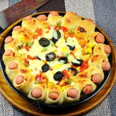 橄榄蔬菜皇冠披萨
