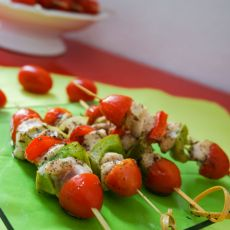 法式蔬菜鸡肉串的做法