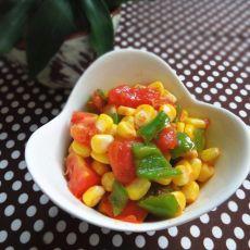 番茄炒玉米粒的做法