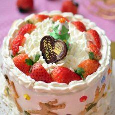 圣诞版生日蛋糕