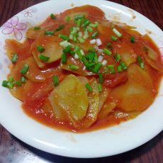 番茄汁土豆片