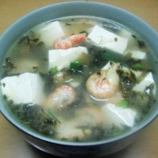 河虾豆腐汤的做法
