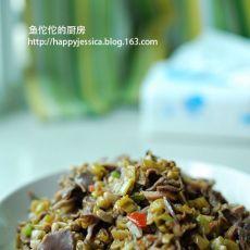 适合夏天的开胃菜-酸豆角炒鸡胗的做法