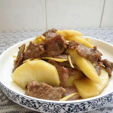 青苹果炒牛肉