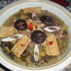 酸菜粉丝炖腐竹的做法