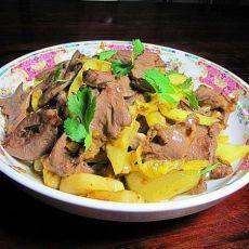 酸菜炒猪心