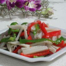 辣椒拌藕的做法
