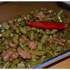 肉沫炒酸豆角的做法