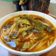鸡肉酸菜面条汤