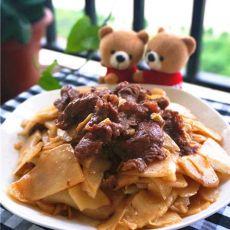 酸笋片炒牛肉