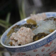 酸菜粉丝肉丸汤