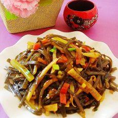 酸萝卜炒海带丝