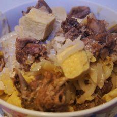 酸菜冻豆腐炖大鹅