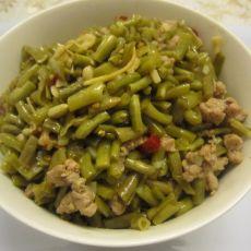 酸豇豆炒肉沫