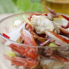 鲜美无比的草菇炒花蟹