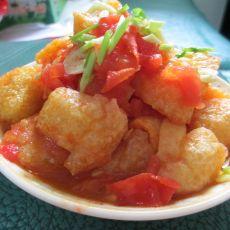 番茄烩豆泡