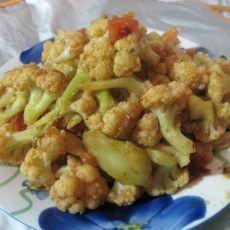 西红柿炒菜花的做法
