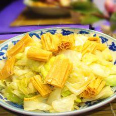 包菜炒腐竹