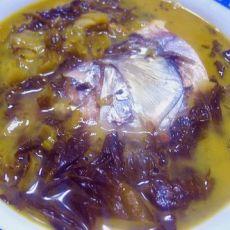 酸菜鱼头的做法