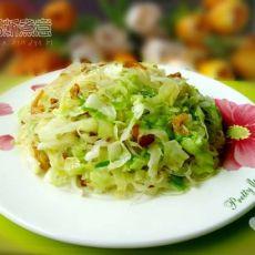 椰菜虾米炒粉丝