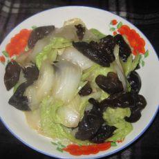 醋溜黑白菜