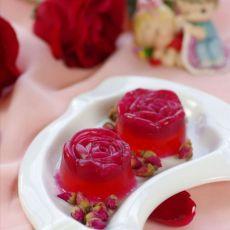 水晶玫瑰布丁