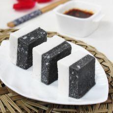 黑芝麻杏仁凉糕