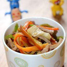 酸萝卜青椒炒肉丝